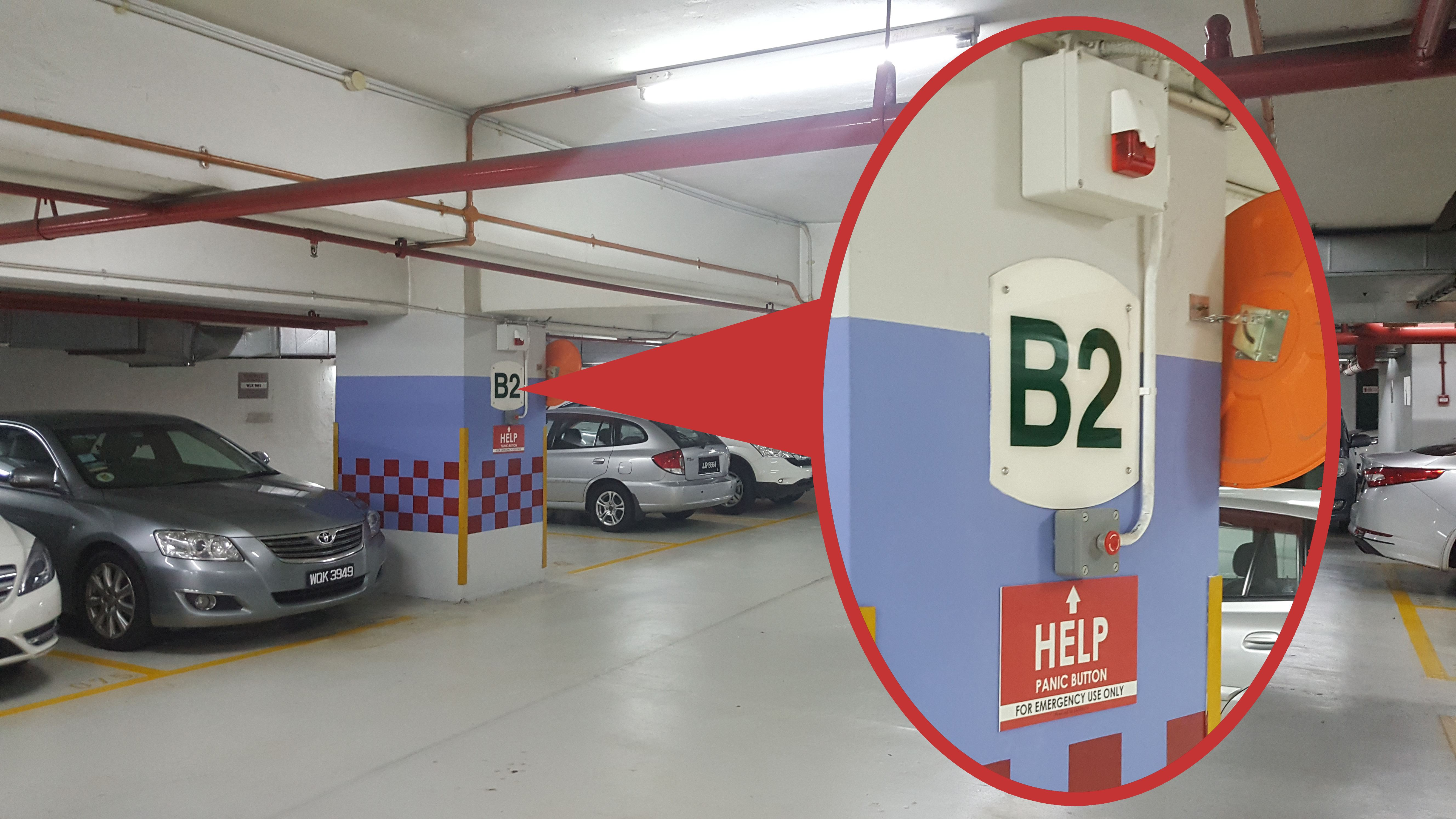 Car Park Panic Button System